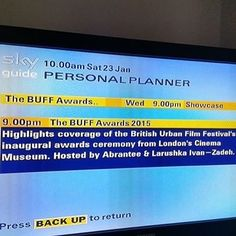 Oooh! Getting very exciting!! @buffenterprises on SKY 261 this wed 27th 9-11pm #buffawards & 3  winning shorts!  officially sponsored for TV by @illusions_cosmetics. Short films by @directorjwebber 'driftwood' @amlameenbaby 'Drinks Drugs KFC' and @markonegroup 'I am who' sponsored by @thevoicenewspaper set your recorders! Relive the night and see the 3 best shorts from categories: best short best comedy best video.  #film festival #global #coverage #socialmedia #film #tv #blackmedia #diverse…