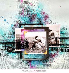 Фабрика декору: Микс-медиа фон с помощью сухих красок и спреев. Мастер-класс от Ирины Богомоловой.