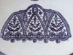 Céramique estampes dentelles. Par Framboise des Bois.