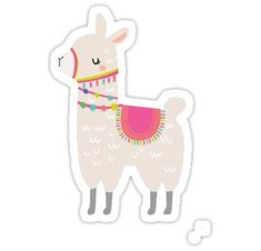 """Llama llama"" Stickers by jessicadenisem Alpacas, Kawaii Doodles, Kawaii Art, Kawaii Stickers, Cute Stickers, Planner Stickers, Cute Llama, Baby Llama, Llama Drawing"
