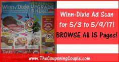 Who is ready to start working on their Winn Dixie Shopping List? Click the Picture below to BROWSE all 15 Pages of the Actual Winn-Dixie Ad Scan for 5/3 to 5/9/17 ► http://www.thecouponingcouple.com/winn-dixie-ad-scan-for-5-3-to-5-9-17/  #Coupons #Couponing #CouponCommunity  Visit us at http://www.thecouponingcouple.com for more great posts!