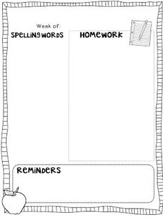 I wanted to share with you my how I setup my class homework & parent reminder sheets. I created my background layout in PowerPoint {LOV. Classroom Freebies, 2nd Grade Classroom, Kindergarten Classroom, Classroom Ideas, Classroom Rules, School Classroom, Notes To Parents, Letter To Parents, Parent Notes