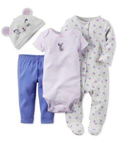 Carter's Baby Girls' 4-Piece Take Me Home Set  | macys.com