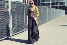 Maxi skirt the bohemian way
