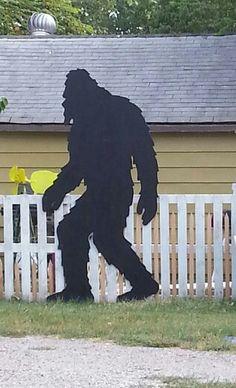 Bigfoot cutout. Oklahoma