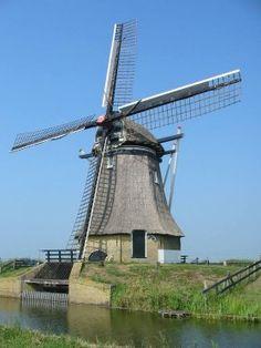 Polder mill Deelsmolen, Vegelinsoord, The Netherlands