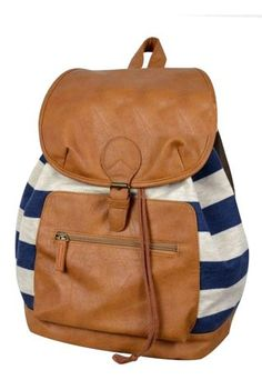 Fresh Knitted Flip Striped Backpack|Fashion Backpacks - Fashion Bags|ByGoods.com