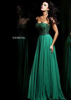 Sherri Hill 11075 Emerald Strapless Evening Gown Sale - $188.00 : 2014 Designer Prom Dresses,Homecoming Dresses,Graduation Dresses Online