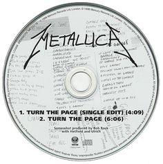"""For Sale - Metallica Turn The Page UK Promo  CD single (CD5 / 5"""") - See this and 250,000 other rare & vintage vinyl records, singles, LPs & CDs at http://eil.com"""