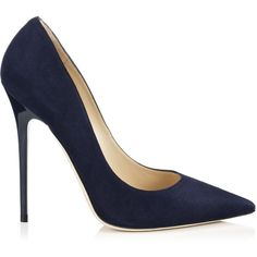 Jimmy Choo Anouk Black Suede Pointy Toe Pumps ($595) via Polyvore