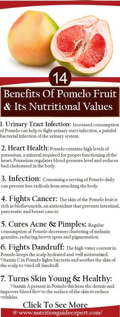 14 Benefits Of Pomelo Fruit And Its Nutritional Values. Please take care of yourselves ladies.