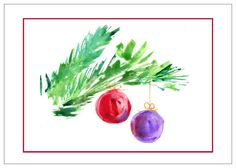 Christmas Watercolor by nwpitneyink on Etsy, $3.99