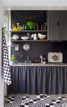blog de decoração - Arquitrecos: Cortinas nas portas de armários