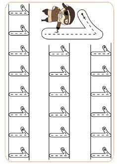 Pre-School Numbers Line Studies (New) - Preschool Children Akctivitiys Preschool Writing, Numbers Preschool, Preschool Learning Activities, Kids Learning, Pre K Worksheets, Kindergarten Math Worksheets, Writing Worksheets, Kindergarten Portfolio, Math For Kids