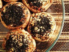 Cogumelos Recheados com Farinheira (Mushrooms stuffed with farinheira) #Portuguese #gastronomy