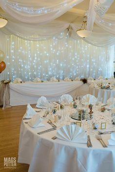 Wedding reception at the Horseshoe Inn  Photo by Karen Austin Decorations