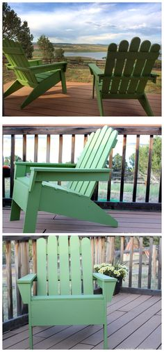 Step by Step instructions for these awesome Adirondack Chairs with a few modifications!