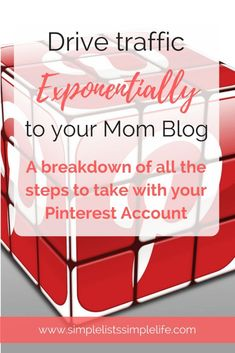 Find help with Pinterest for Bloggers. Drive traffic to your Mom blog using Pinterest by using these techniques.