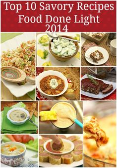 Top Savory Healthy Recipes 2014 Food Done Light - Perfect recipes for healthy eating in 2015