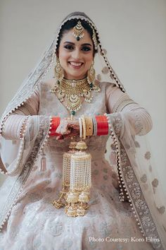 bridal jewellery ideas , bridal jewellery designs , bridal jewellery images , bridal jewellery , bridal jewellery indian wedding , bridal jewellery brides Bridal Jewellery Images, Wedding Jewelry, Pink Lehenga, Designer Wear, Pastel Pink, Indian Jewelry, Real Weddings, Jewelry Design, Bride