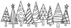 Give your Christmas cute retro flair with these patterned Christmas trees all in a row! Stitch just once, or overlap and repeat. Downloads as a PDF. Use pattern transfer paper to trace design for hand-stitching.
