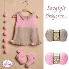 Sevgi dolu ilmeklerden çıkan harika modeller Nako Baby serisinde. #nakoileörüyorum #nakobaby #knitting #bebekörgüleri #knitlove #instaknit #babylove #sevgiyleörüyoruz