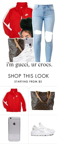 """""""July 21 , 2k15"""" by yungd ❤ liked on Polyvore featuring NIKE and Louis Vuitton"""