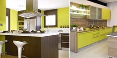 Cocina verde pistacho