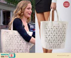 Emma's cutout bag on Royal Pains.  Outfit Details: http://wornontv.net/33704/ #RoyalPains