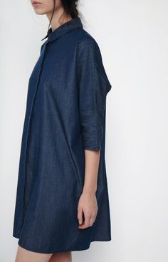 beaumont organic chambray dress. made in britain