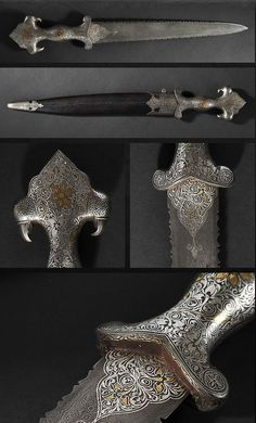 Damascus Steel Dagger. Dated: early 20th century. Culture: Indian, Rajasthan. Copyright © 2013 Expertissim