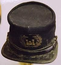 Rare 1st Louisiana Engineers forage cap