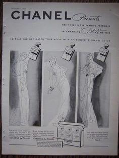 Chanel No. 5 - publicidad del 30 al 60 - 1/61 - Tamaño original