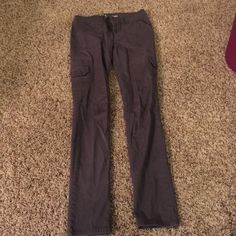 Cargo pants Olive colored skinny fit cargo pants with same color button and pockets Mossimo Supply Co Pants Skinny