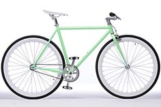 $325.00 The Victor: Celeste-green frame with ghost-white deep dish wheels. Our bikes feature a flip-flop rear hub that gives riders the...