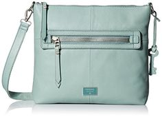 Fossil Dawson Top Zip Cross Body Bag, Sea Glass, One Size >>> Check this awesome product by going to the link at the image.