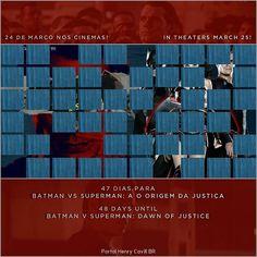 """""""47 dias para Batman vs Superman: A Origem da Justiça // 48 days until #BatmanvSuperman!  #TeamSuperman #BvS #HenryCavill #superman #aorigemdajustiça…"""""""