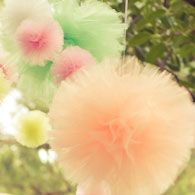Hanging tulle poms  Pom Pom Princess :: Store