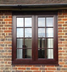 window installation in the popular colour! Residence 9 windows are a great alternative to timber - can you tell the difference? Wooden Window Frames, Windows, Front Window Design, Wooden Window Design, Craftsman Front Doors, Window Grill Design, Main Door Design, Window Installation, Windows Exterior