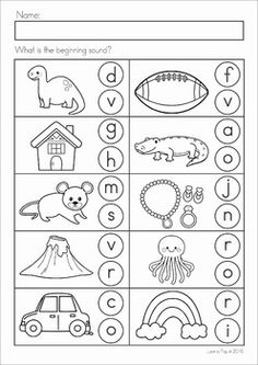 Beginning Sounds Worksheets, Pre K Worksheets, Phonics Worksheets, Kindergarten Worksheets, Addition Worksheets, Handwriting Worksheets, Handwriting Practice, Alphabet Writing, Preschool Literacy