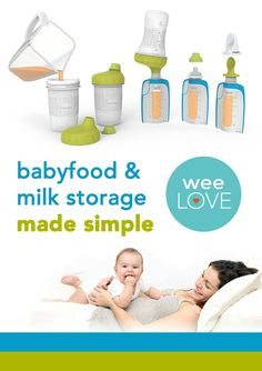 """The easiest way to feed your baby--Foodii pouches are great for purees, breastmilk (they can connect to pumps!), and formula, making this the only feeding """"system"""" you really need."""