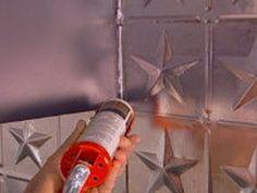 Kitchen Backsplash on How To Create A Tin Tile Backsplash   How To   Diy Network