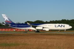 LAN Airlines Airbus CC-CQA at Frankfurt am Main. LAN is retiring the type in favour of the Boeing on it's long haul routes to Europe, Australia and New Zealand. Lan Chile, Lan Airlines, Boeing 777, Commercial Aircraft, Long Haul, Flight Attendant, Airports, South America, Airplane