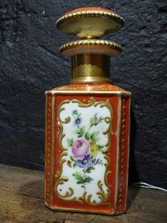 Antique Hand Painted Paris Scent Perfume Bottle