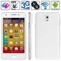F9006 Note 3 Bianco mini MTK6582 1.2GHz Quad Core RAM 1GB 4.3