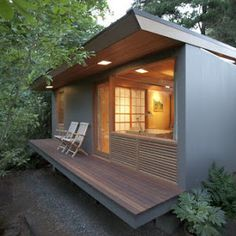 The Mini.Box, a 400 sq ft park model home with a beautiful, modern interior. Designed and built by Idea Box.