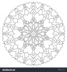Mandala Hearts On White Background Coloring Stock Illustration 575315266 Valentine Coloring Pages, Heart Coloring Pages, Pattern Coloring Pages, Online Coloring Pages, Adult Coloring Book Pages, Printable Adult Coloring Pages, Mandala Coloring Pages, Colouring Pages, Coloring Books