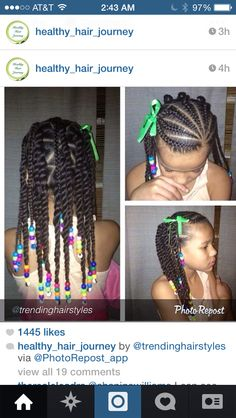 Natural hairstyles on Instagram