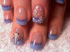 Cute winter mani!