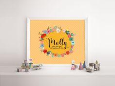 Baby name print 'Molly' - nursery poster print wall art